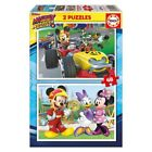 Puzzle Mickey and The Roadster Racers Disney 2x48pz Tamaño puzzle: 28x20cm.