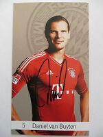 Handsignierte AK Autogrammkarte DANIEL VAN BUYTEN Bayern München 12/13 2012/2013