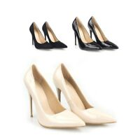 New ladies Patent High heel Office Nude and Black Heels SIze