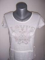 LEVI'S TEE SHIRT femme coton manches courtes neuf taille M coloris blanc