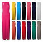 femmes long jersey extensible Muscle dos nageur GRANDE TAILLE ROBE MAXI 16-26