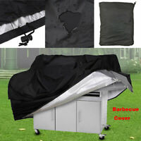 BBQ S-XL Grill Cover Gas Barbecue Heavy Duty Waterproof Dustdproof Outdoor Black