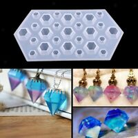 DIY Diamond Silicone Mould Jewelry Pendant Resin Casting Craft Making Molds Kit