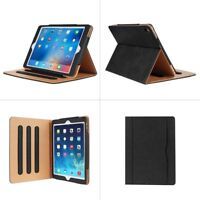 Leather Flip Stand Case Smart Wallet Cover For Apple iPad -Air / Mini / Pro