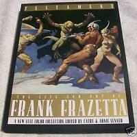 Rare Testament Frank Frazetta Hardcover HC w/ slipcase
