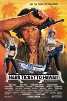 140858 HARD TICKET TO HAWAII XXX Explotation Wall Print Poster Affiche