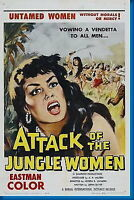 150210 Attack Of The Jungle Women Movie Wall Print Poster Affiche