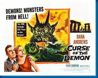 151043 Curse Of The Demon Movie Wall Print Poster Affiche