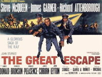 158093 Steve McQueen - The Great Escape Movie Wall Print Poster AU