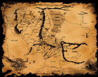158943 Map of Middle Earth Lord Of The Rings Hobbit Decor Wall Print Poster