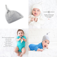 Baby Organic Knotted Hat Newborn 0 6 Months GREY FREE SHIPPING Heather
