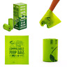 """100% Compostable Pet Poop Bags Dog Waste 120 Ct 8 Refill Rolls Size 9""""X13"""" Ex"""