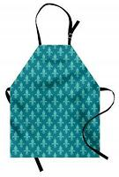 Fleur de Lis Apron Arabesque Damask Unisex Kitchen Bib with Adjustable Neck
