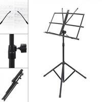 Lightweight Adjustable Folding Music Tripod Stand Holder Alloy w/ Carrying Bag