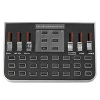 F8 4 Modes Studio Audio Mixer Microphone Webcast Entertainment Streamer Liv S4B7