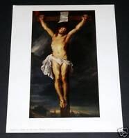 "OLD ART PRINT, ""CHRIST ON THE CROSS"", BY RUBENS!"