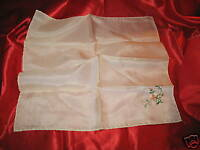 Vintage Silk Handkerchief with Multi Colored Flowers