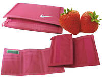 NIKE Basic Wallet Nylon Trifold Basic Sports WALLET  Strawberry  Pink