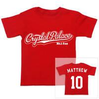 CRYSTAL PALACE Football Personalised Boys/Girls T-Shirt