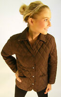 Campbell Cooper Brand New Ladies Fitted Quilt Riding Jacket Coat Brown