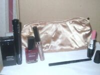 New AVON PREPARE TO PARTY Make up Gift Set ~ Lipstick, Mascara, Eyeliner, Pouch