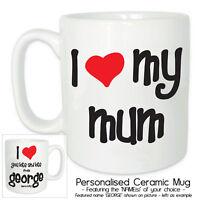 I LOVE MY MUM Personalised Ceramic Mug + Gift Box