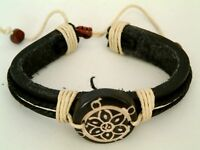 A New Men's Leather Bracelet Wristband Tribal Surfer.