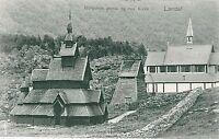 VINTAGE POSTCARD: NORWAY : Lærdal LAERDAL
