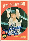 JIM BUNNING Autographed 1959 Topps # 149 card HOF