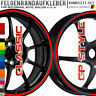 Moto GP Style Felgenrandaufkleber für Auto o. Motorrad
