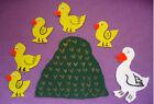 5 Five Little Ducks Flannel Felt Board Song Rhyme Set