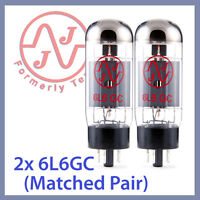 2x NEW JJ Tesla 6L6 / 6L6GC Vacuum Tubes, Matched Pair TESTED