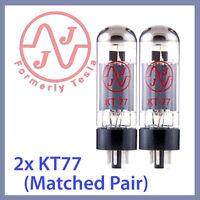 2x NEW JJ Tesla KT77 Vacuum Tubes, Matched Pair TESTED