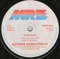 """GEORGE HAMILTON IV england 7"""" WS EX/ uk mre"""