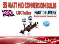 2 x H1  35w XENON HID CONVERSION KIT REPLACEMENT BULBS 6000K UK SELLER