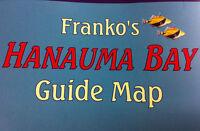 Franko's Guide Map Hawaii Hanauma Bay Scuba Dive Hiker Kayakers Road Surf
