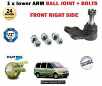 FOR Nissan Serena 94-2000 Vanette 95--> New Front Lower Ball Joint RHS