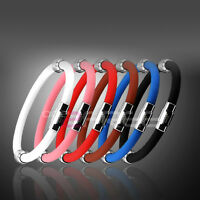 Newest Plus Magnetic Power Titanium Ionic Bracelet Balance Band 6 Color U Pick