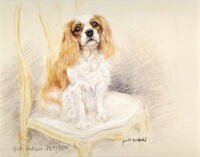 "CAVALIER KING CHARLES ENGLISH TOY SPANIEL DOG LIMITED EDITION PRINT - ""Sold Out"""