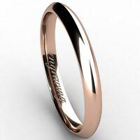 Classic Comfort fit Wedding Ring 14K karat Rose gold 2.50mm Width Free Engraving