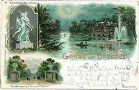 Ansichtskarten  POSTCARD: GERMANY - DRESDEN : GRUSS AUS 1898