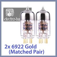2x NEW Electro Harmonix 6922 EH Gold 6922EH Tube GOLD TESTED, Matched Pair