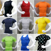 Mens Compression Under Base Layer Top Tight Short Sleeve T-Shirts Collection #2