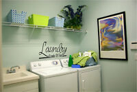 Laundry Room Loads of Fun vinyl wall decals sticker art