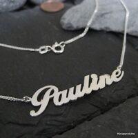 1 Namenskette mit Wunschname, 925er Silber, Buchstaben & Länge wählbar (H.1,4)