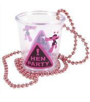 HEN NIGHT SHOT GLASS ON PINK BEADS - FANCY DRESS ACCESSORIES