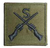 BRITISH ARMY SNIPER PATCH sew on military cloth badge elite forces soldier guns