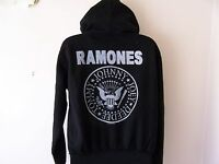 *NEW TAGGED* AMPLIFIED THE RAMONES LADIES BLACK HOODIE SIZE L 12-14