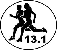 13.1 Half Marathon Window Decal Bumper Sticker NEW Couple Running Male Female