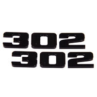 2011-2012-2013 FORD MUSTANG 302 BILLET EMBLEM PAIR BLACK OUT LOOK 3667-109